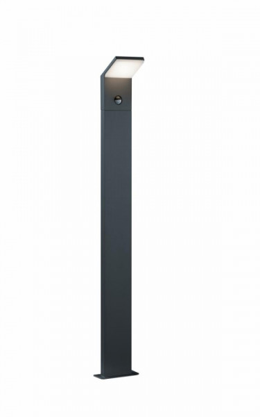 Stalp LED integrat pentru exterior Trio Pearl, cu senzor de miscare, 9W, 230V, lumina calda 3000K, 900 lumeni, durata de viata 25.000 de ore, clasa energetica A, IP54, dimensiuni 14x100cm, material fonta aluminiu/ plastic, culoare antracit/ alb