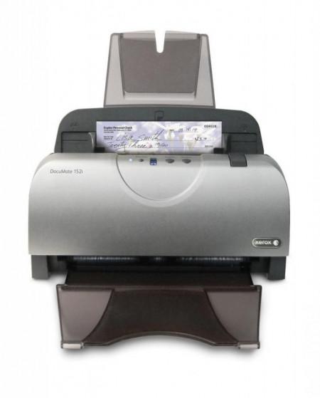 Scanner Xerox DocuMate 152i, sheet-fed color, A4, 25 ppm / 50 ipm @ 300 dpi, rezolutie optica 600 dpi,sensor dual CCD 24 biti color, 8 biti alb-negru, duplex,ADF 50 coli, Power PDF, Visioneer One Touch,Twain,ISIS, WIA driver, USB, volum maxim 2500 pagini/
