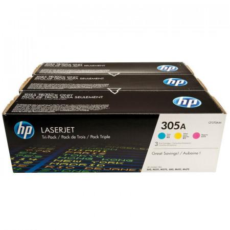 Toner HP CF370AM, pachet triplu CE411A/CE412A/CE413A