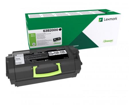 Toner Lexmark 63B2000, black, return program , 11k, MX717de,MX718de.