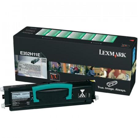 Toner Lexmark E352H11E, black, 9 k, E350d , E352dn