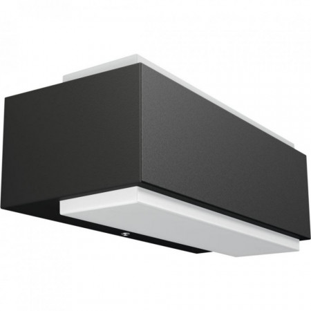 Aplica LED integrat pentru exterior Philips myGarden Stratosphere, 2x4.5W, 230V, IP44, lumina neutra 4000K, 1000 lumeni, culoare antracit, material plastic/ aluminiu, forma dreptunghi