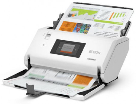 Scanner Epson WorkForce DS-32000, dimensiune A3, tip sheetfed, viteza scanare: 90 ppm mono si color, ADF 120 coli, rezolutie optica 600 X 600dpi, duplex, senzor CIS, tehnologie LED, Scanare catre BMP, JPEG, TIFF, multi-TIFF, PDF, searchable PDF, secure PD