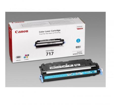 Toner Canon CRG717C, cyan, capacitate 4000 pagini, pentru MF8450, 9130, 9170
