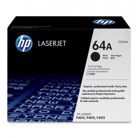 Toner HP CC364A, black, NR.64A, 10K ORIGINAL HP LASERJET P4014, LaserJetP4014DN, LaserJet P4014N, LaserJet P4015DN, LaserJet P4015N, LaserJetP4015TN, LaserJet P4015X, LaserJet P4515N, LaserJet P4515TN, LaserJetP4515X, LaserJet P4515XM.