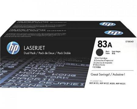 Toner HP CF283AD, black, pachet dublu CF283A, HP LaserJet Pro M125A, LaserJet Pro M125NW, LaserJet Pro M127FN, LaserJet Pro M127FW