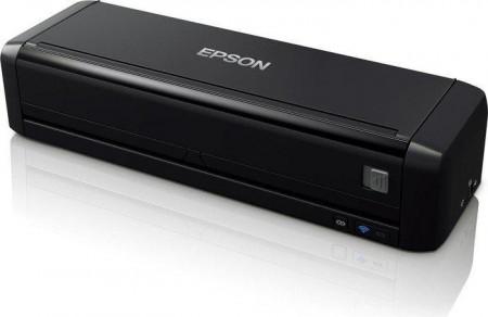 Scanner Epson DS-360W wireless, portabil, baterie inclusa, dimensiuneA4, Rezoluţie optică (ADF)600DPI x 600DPI (orizontal x vertical),Formate ieşire BMP, Scanare către JPEG, Scanare către TIFF, Scanarecătre multi TIFF, Scanare către PSF, Scanar