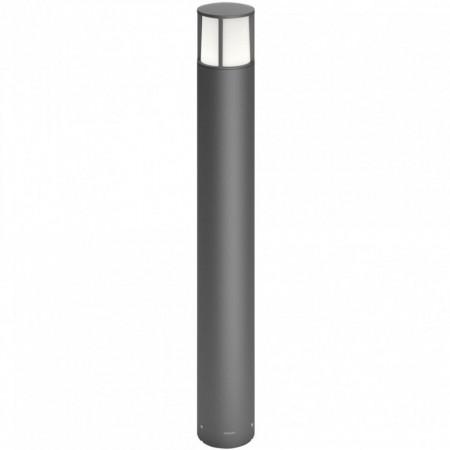 Stalp de exterior LED integrat Philips, Stock Post Anthracite, 1x6W, 230V, alb cald 2700K, 600 de lumeni, IP44, culoare antracit, material aluminiu, dimensiuni: 104x104x770mm;