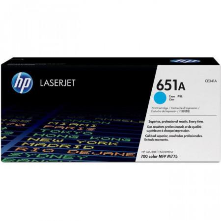 Toner HP CE341A,cyan NR.651 16K ORIGINAL, HP LaserJet Enterprise 700MFP M775DN, LaserJet Enterprise 700 MFP M775F, LaserJet Enterprise 700MFP M775Z, LaserJet Enterprise 700 MFP M775Z+.