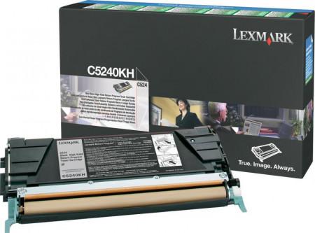 Toner Lexmark C5240KH, black, 8 k, C524 , C524dn , C524dtn ,C524n , C534dn , C534dtn , C534n