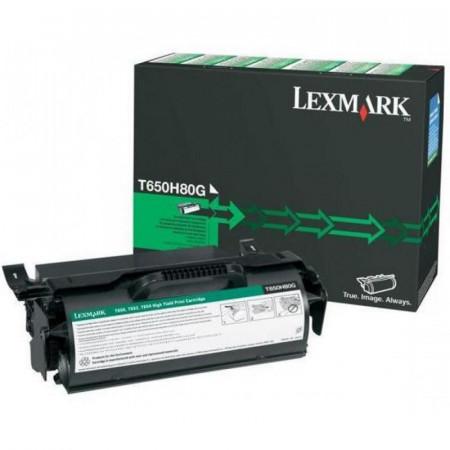 Toner Lexmark T650H80G, black, 25 k, T650dn , T650dtn , T650n ,T652dn , T652dtn , T652n , T654dn , T654dtn , T654n , T656dne