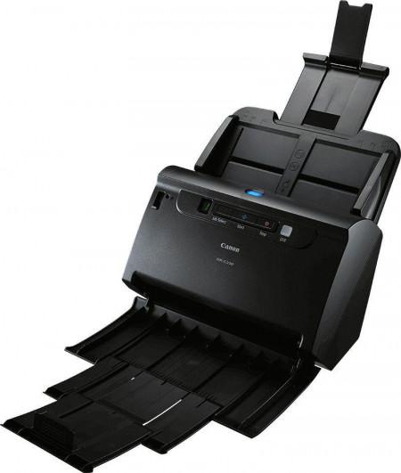Scanner Canon DRC230, dimensiune A4, tip sheetfed, duplex, viteza de scanare: Alb-negru : 30 ppm/60ipm, Color: 30ppm/60ipm, rezolutie optica 600dpi, senzor CIS, alimentator 60 coli, software inclus: Driver ISIS/TWAIN, CapturePerfect, CaptureOnTouch, inter