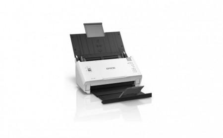 Scanner Epson DS-410, dimensiune A4, tip sheetfed, viteza scanare: 52 ipm alb-negru si color, rezolutie optica 600x600dpi, ADF Single Pass 50 pagini, duplex, senzor CIS, USB 2.0 Type B, software :Document Capture Pro 2.0, Epson Scan 2, Posibilitatea prelu