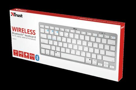 Tastatura Trust Nado, Bluetooth Wireless, alba