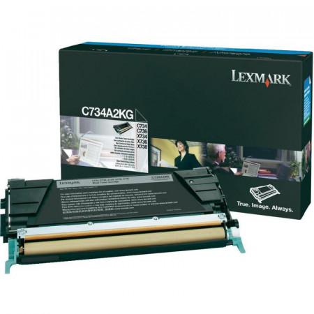 Toner Lexmark C734A2KG, black, 8 k, C734dn , C734dtn , C734dw ,C734n , C736dn , C736dtn , C736n , X734de , X736de , X738de , X738dte