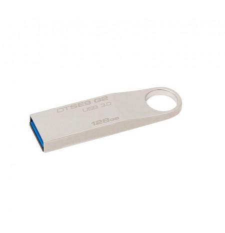 USB Flash Drive Kingston 128GB DataTraveler SE9 G2 METAL CASING, USB 3.0, metalic