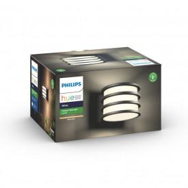 Aplica LED de exterior Philips HUE White Lucca, E27, 9.5W (60W), IP44, 806 lumeni, aluminiu, antracit, bec alb Hue inclus