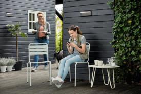 Aplica LED integrat pentru exterior Philips myGarden Bustan, 2x4.5W (44W), 220-240V, lumina alba rece, 1000 lumeni, IP44, durata de viata 30.000 de ore, culoare antracit, material plastic/ aluminiu, tensiune foarte joasă sigură
