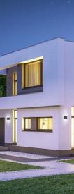 Aplica LED integrat pentru exterior Trio Thames II, 2x4.5W, 230V, lumina calda 3000K, 2x 400 lumeni, durata de viata 30.000 de ore, clasa energetica A+, IP54, dimensiuni 17x9cm, material fonta aluminiu, culoare antracit