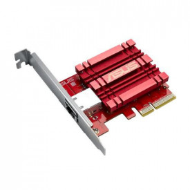ASUS 10GBase-T PCIe Network Adapter with backward compatibility of 5/2.5/1G and 100Mbps ; RJ45 port and built-in QoS.