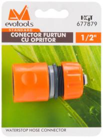 Conector Furtun cu Opritor ETS. / D[inch]: 1/2