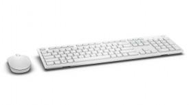 Kit tastatura si mouse Dell KM636, Wireless, alb