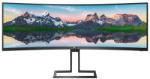 "Monitor 48.8"" PHILIPS 498P9, VA, WLED, Anti-Glare, 2H, Haze 25%, curbat 1800R, 32:9, 5K 5120*1440, 70 Hz, 5 ms, 450 cd/mp, 3000:1, 178/178, LowBlue Mode, EasyRead, DP, 2* HDMI, 4* USB, headphone out, boxe 2*5W, PBP (2 x devices), Kensington lock, VESA 100"