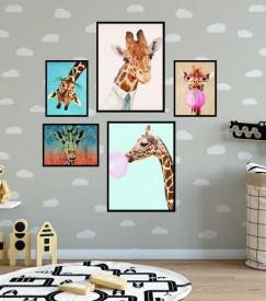 Set 5 tablouri decorative Zebra Fun