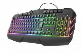 Tastatura Trust GXT 881 ODYSS, semi-mecanica, neagra