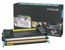 Toner Lexmark C736H1YG, yellow, 10 k, C736dn , C736dtn , C736n ,X736de , X738de , X738dte
