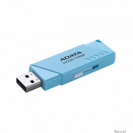 USB Flash Drive ADATA 64Gb, UV230 blue retail, USB-A 2.0