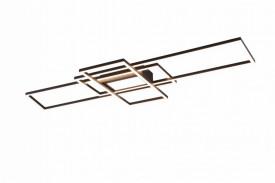 Aplica Trio Irvine, incl. 1x SMD LED, 60W, 230V, IP20, temperatura culoare variabila 3000 - 6500K, 6500 lumeni, variator de lumina integrat, functie memorie, durata de viata 30.000 de ore, clasa energetica A+, dimensiuni 105x6x42cm, culoare antracit, mate