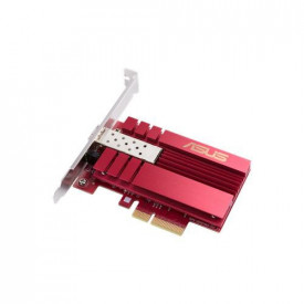 ASUS 10G PCIe Network Adapter; SFP+ port for Optical Fiber Transmission and DAC cable, Hyper-fast 10Gbps, built-in cooling, Built-in QoS technology, Direct-attach copper (DAC)– With SPF+ Cage.