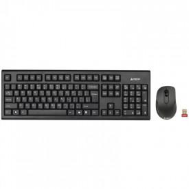 Kit tastatura + mouse A4tech 7100N, wireless, negru