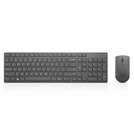 Kit tastatura si mouse Lenovo Professional Ultraslim, Wireless, negru