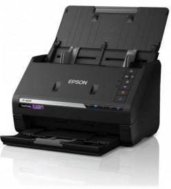 Scanner Epson FASTFOTO FF-680W, dimensiune A4, tip sheetfed, viteza scanare: 46ppm alb-negru si color, rezolutie optica 6400x9600dpi, senzor CIS, Duplex, software : Epson ScanSmart, Formate iesire: JPEG, TIFF, PDF, searchable PDF, PDF/A, interfata: USB 3.