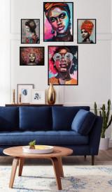 Set 5 tablouri decorative African