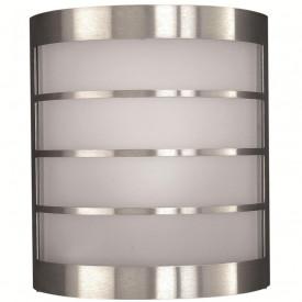 Aplica exterior Philips Massive Calgary, E14, 12W, 230V, IP44, material inox, culoare gri melange/ argintiu