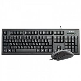 Kit tastatura + mouse A4tech KR-8520D, cu fir, negru