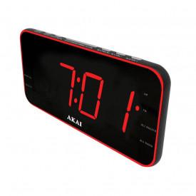 """Radio cu ceas AKAI ACR-3899, ceas digital, Radio AM/FM PLL, 1.8"""" Red LED Display"""