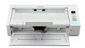Scanner Canon DRM140, dimensiune A4, tip sheetfed, viteza de scanare: Alb-negru: 200/300 dpi, 40 ppm/80 ipm, Color: 200 dpi, 300 dpi: 40 ppm/80 ipm, rezolutie optica 600dpi, senzor CIS, Software inclus: Driver ISIS/TWAIN, CaptureOnTouch, CapturePerfect 3.