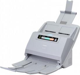 Scanner Canon DRM160II, dimensiune A4, tip sheetfed, viteza de scanare: Alb-negru: 200/300 dpi, 40 ppm/80 ipm, Color: 200 dpi, 300 dpi: 40 ppm/80 ipm, rezolutie optica 600dpi, senzor CIS, software inclus: Driver ISIS/TWAIN, CaptureOnTouch, CapturePerfect