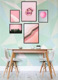 Set 5 tablouri decorative Pink