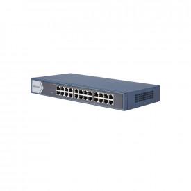 Switch 24 porturi Gigabit, Hikvision DS-3E0524-E(B), fara management, Layer 2, 24 x 1000M Ethernet port, RJ45 port, Full duplex, MDI/MDI-X adaptive, standard: IEEE 802.3, IEEE 802.3u, IEEE 802.3x, Store-and- forward switching, MAC address table: 8 K, Inte
