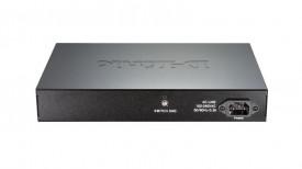 "Switch D-Link DGS-1100-16, 16 porturi Gigabit, Capacity 32Gbps, 8K MAC, 11"" Desktop/Rackmount, Easy Smart, fanless, metal"