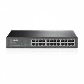 "Switch TP-Link TL-SF1024D, 24 porturi 10/100Mbps, Desktop/ Rackmount, 13"" metal"