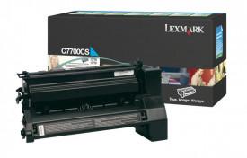 Toner Lexmark C7700CS, cyan, 6 k, C770dn , C770dtn , C770n ,C772dn , C772dtn , C772n , X772e
