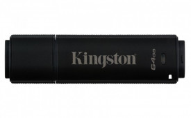 USB Flash Drive Kingston, 64GB, DT4000 G2, USB 3.0, 256 AES FIPS 140-2 Level 3 Management Ready