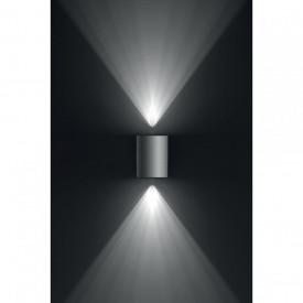 Aplica LED integrat pentru exterior Philips myGarden Cistus, 2x4.5W, 230V, 1000 lumeni, IP44, culoare argintiu, material inox