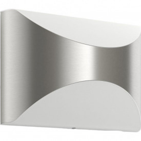 Aplica LED integrat pentru exterior Philips myGarden Herb, 1x6W, 230V, 600 lumeni, IP44, culoare argintiu, material otel, forma dreptunghi